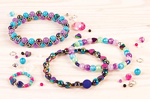 Arts and Crafts Kit Guides Kids to Design and Create Beautiful Bracelets DIY Tween Girls Jewelry Making Kit and Headbands Mega Jewelry Set Make It Real Necklaces