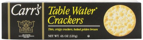 Carrs Table Water Crackers, Bite Size, 4.25-Ounce Units (Pack of 6)