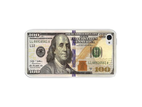 Cellet New One Hundred Dollar Bill Design Proguard Case for Apple iPhone 4/4s- (100 Dollar Iphone 4s)