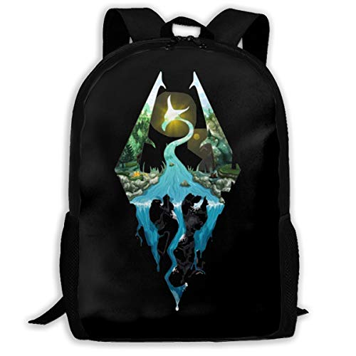 Lightweight Adventurer Like You Skyrim Printed School Backpack Water Resistant Travel Rucksack Bag Laptop Backpack Daypack,17 Inch (Best Laptop For Skyrim)