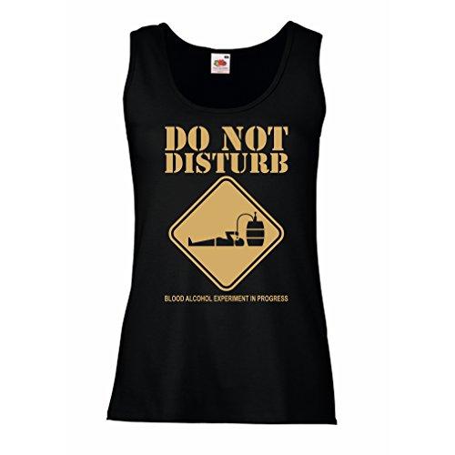 Camisetas sin Mangas para Mujer Experimento del Alcohol de la Sangre en Curso - Diver tee Shirts (X-Large Negro Oro)