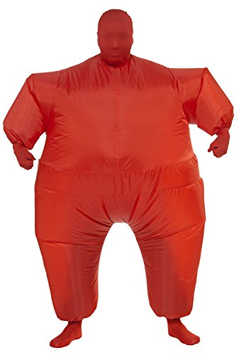 Baby Cowboy Up Costumes (Inflatable Full Body Jumpsuit Cosplay Costume Halloween Funny Fancy Dress Blow Up Party Toy (Red))