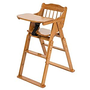 Amazon Com Elenker Wood Baby High Chair With Tray