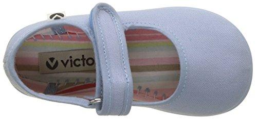 victoria Unisex-Kinder Mercedes Velcro Lona Sneaker Blau (Nube)