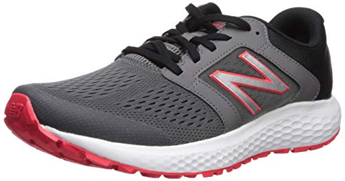 New Balance Men's 520v5 Cushioning Running Shoe, Castlerock/Energy red/Black, 10.5 D US