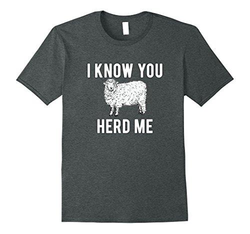 T-shirt Animal Funny Sheep (Mens I Know You Herd Me Sheep Pun T-Shirt Funny Animal Joke XL Dark Heather)