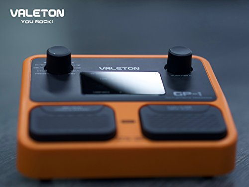 Valeton-GP-1-Multi-Effects-Processor-Combines-Drum-Machine-and-Looper-Complete-Feature-Set-Yellow