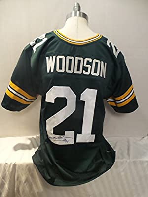 Charles Woodson Signed Green Bay Packers Green Autographed Jersey Novelty Custom Jersey