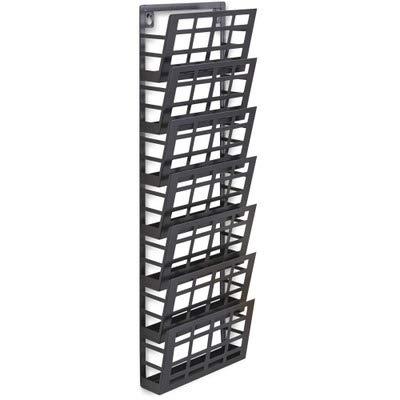 - SAF4662BL - Safco 7-Pocket Grid Magazine Rack