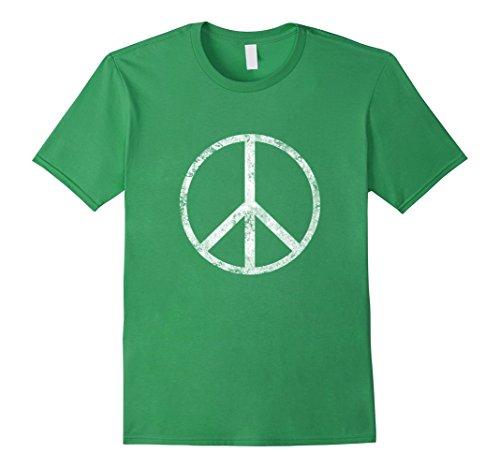Mens Peace Sign World Peace Love T Shirt Medium Grass