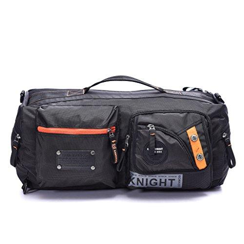 DDDH Men's Travel Duffel Bag Overnight Weekender Crossbody Shoulder Backpack Tote Case Carry On Luggage Bag fit Gym Sport Camp Hiking Travel(Black5)