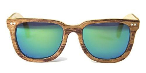Charles de FELER Gafas Espejo Bubinga Lente Verde madera dEnq6q40O