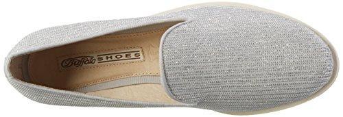 Loafers White 15bu0091 Women's Glitter Buffalo White471 Wpa11