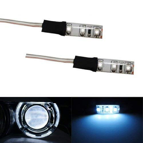 Led Chr - iJDMTOY HID 6000K Xenon White Devil Demon Eye LED Strips Modules For Projector Headlights Retrofit