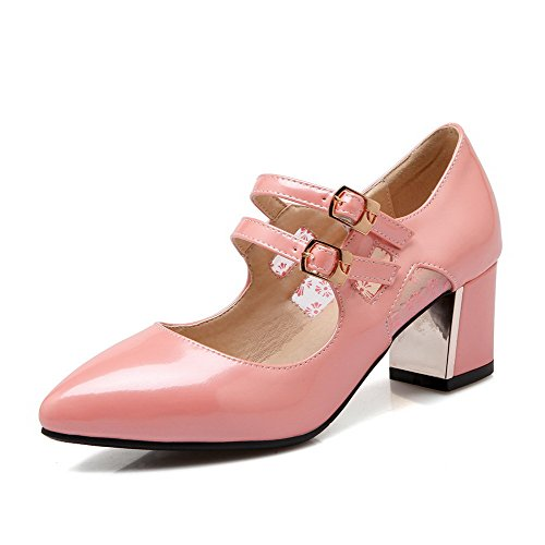 weenfashion-womens-buckle-patent-leather-pointed-closed-toe-kitten-heels-solid-pumps-shoes-pink-38