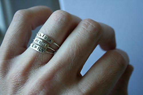 Sterling Silver Handmade Stack Alphabet Name ()