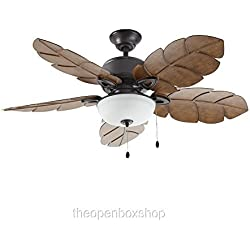 Home Decorators Collection Palm Cove 52 in. Natural Iron Ceiling Fan
