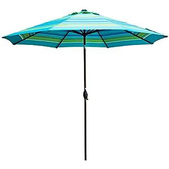 Amazon Com Abba Patio 11 Feet Striped Patio Umbrella Outdoor Table