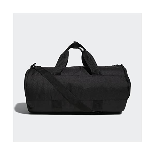 adidas Originals Paneled Roll Duffel Bag, Black, One Size 16