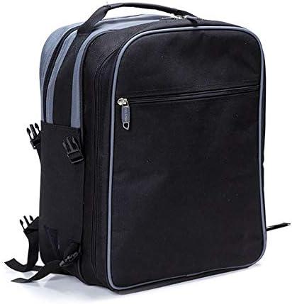 ピクニックバスケット 家族のアウトドアキャンプのために特大の防水毛布で4人セットのパックについてはピクニックバックパック(ブラック) (Color : Black, Size : 29x20x38cm)