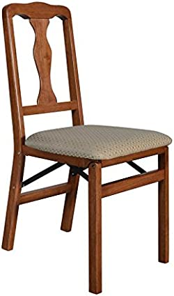 related image of Meco STAKMORE Queen Anne Folding Chair Cherry