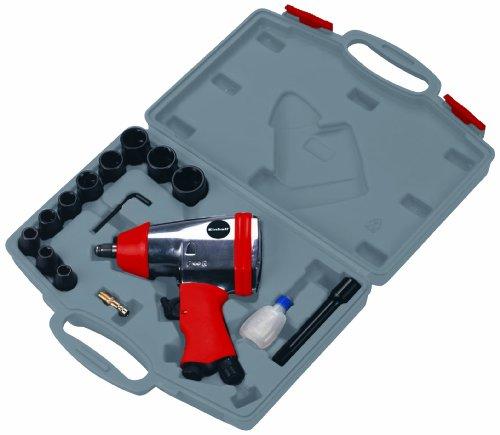 Einhell Druckluft Schlagschrauber Set DSS 260/2 (Arbeitsdruck 6,3 bar, Drehmoment 312 Nm, Luftverbrauch ca. 115 l/min., inkl. Zubehör, im Koffer)