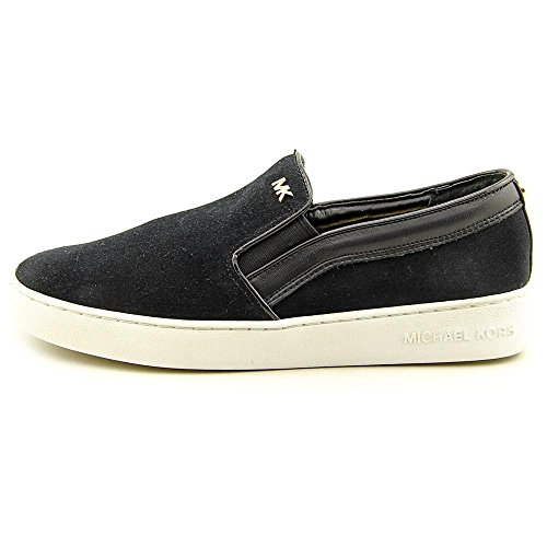 MICHAEL Michael Kors Womens Keaton Leather Low Top Slip on Fashion Sneakers Black 1 S6usTGthV