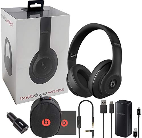 - Beats by Dr. Beats Studio2 Wireless Noise Reduction Over-Ear Headphone - Special Edition Matte Black -With Dual Car Charger & BT (Retail Packing Kit)