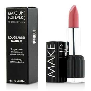 0.12 Rouge Ounce Pink (Make Up For Ever Rouge Artist Natural Soft Shine Lipstick #N18 (Powdery Pink) 3.5G/0.12Oz)