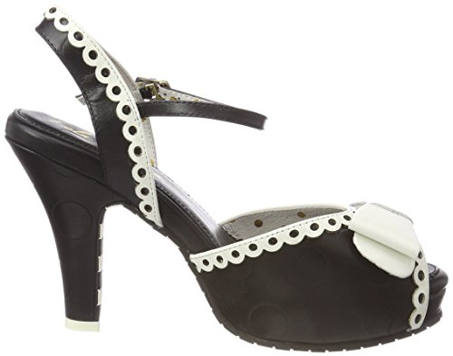 Ramona Mujer Abierta Lola Punta Con Negro Angie Tacón Zapatos black De cream Para 2 dwpq46zAp