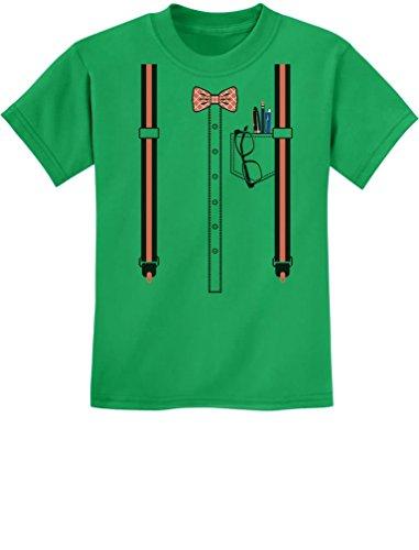 TeeStars - Funny Nerd Geek Halloween Easy Costume Youth Kids T-Shirt Large Green