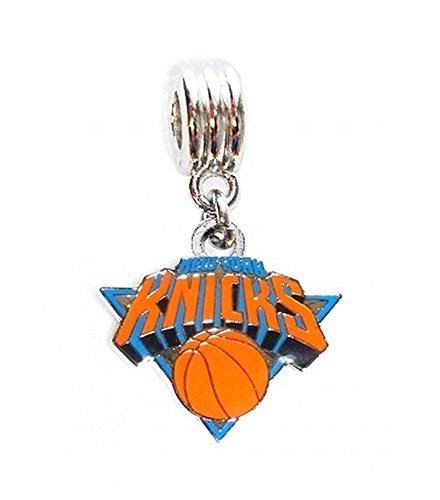 NY NEW YORK KNICKS BASKETBALL TEAM CHARM SLIDE PENDANT ADD TO YOUR NECKLACE EUROPEAN BRACELET DIY PROJECTS ETC.