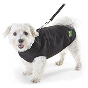 Pawz Black 1Z Coat, 16-Inch Long/ 25-Inch Girth