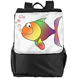 Benpo Goldfish Outdoor Backpack Lightweight Fashion Hiking Rucksack Casual Large Shoulder Book Bags One Size
