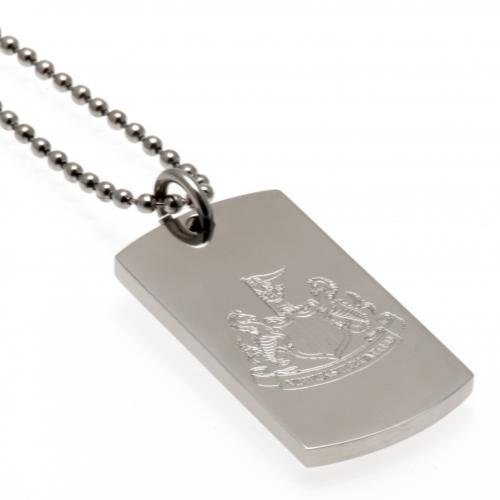 Engraved Crest Dog Tag & Chain Newcastle United F.C