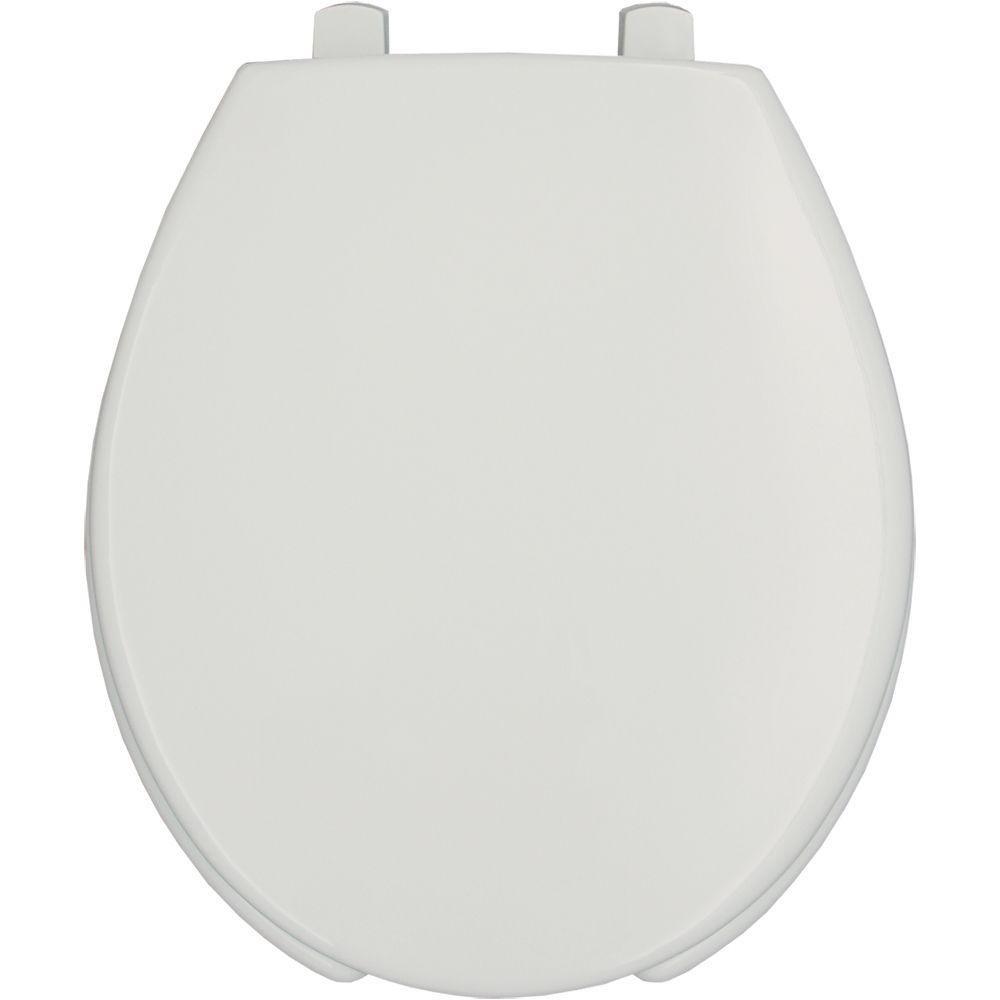 Bemis 7750TDG 000 Hospitality Plastic Round Toilet Seat, White