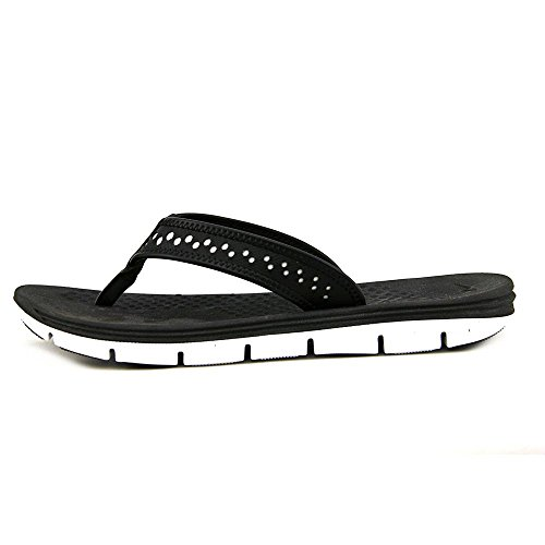 Nike Flex Bewegung Thong Schwarz / WeiÃ? Sandale 5 B - Medium Black/White