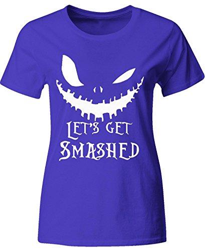 Lets Get Smashed Pumpkin Halloween Party Smashing Pumpkins - Ladies T-Shirt