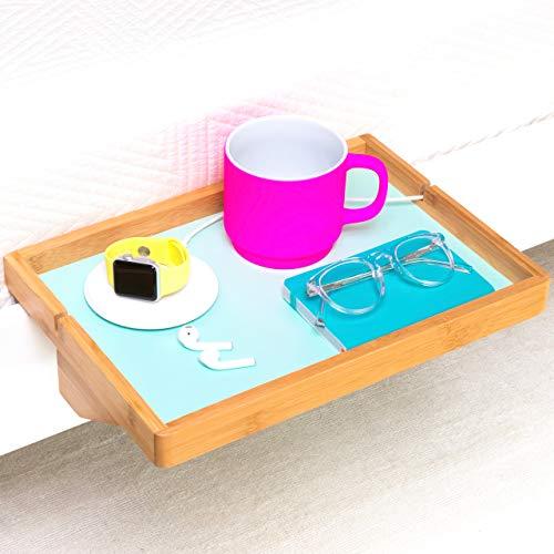 BedShelfie The Original Bedside Shelf - 9 Colors / 2 Sizes - AS SEEN ON Business Insider (Regular Size, Natural + Light Green)