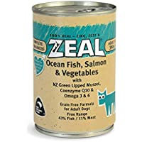 Zeal Ocean Fish, Salmon & Vegetables Canned Dog Food 390grm