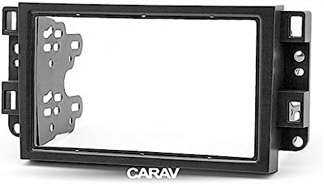 CARAV 09 - 003 doble DIN Radio estéreo adaptador DVD Dash Kit de instalación rodeado Trim Captiva, Epica Facia Trim Fascia con 173 * 98 mm y 178 * mm