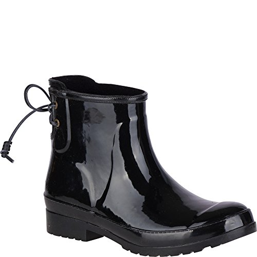 (SPERRY Women's Walker Turf Rain Boot, Black, 9)