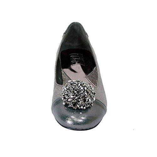 Sfilata Fic Andie Da Donna Larghe Slip On Ballet Dress Per Ogni Occasione (misure E Guide Di Misura) In Peltro