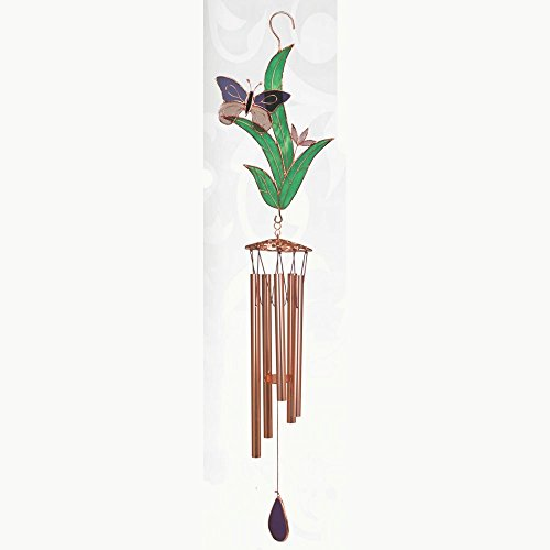 Gift Essentials GE217 Purple Butterfly with Leaves Large Wind Chime Review