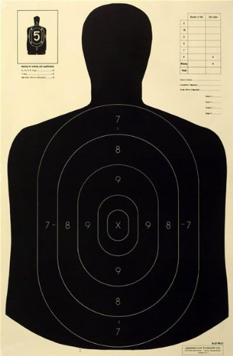 Nra Silhouette Targets - Official NRA B-27E Paper Shooting Targets, Silhouette, 23