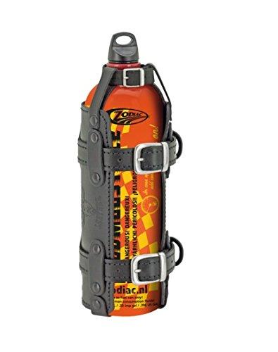 Zodiac 1,5 Litros Bidd/ón de Combustible Gasolina/ Sostenedor de Cuero Negro