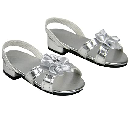 Image Unavailable. Image not available for. Color  Silver 18 Inch Doll High  Heels 373ce2885466