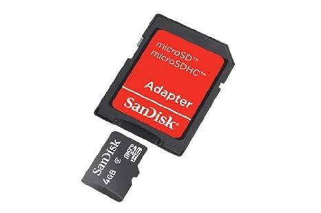 SanDisk SDSDQB-004G-B35 Tarjeta de memoria microSD + Adaptador de 4 GB negro