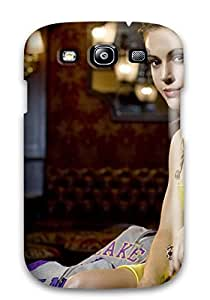 For Galaxy Case, High Quality Hot Celebrity Alyssa Milano For Galaxy S3 Cover Cases