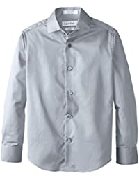 Big Boys' Long Sleeve Sateen Dress Shirt